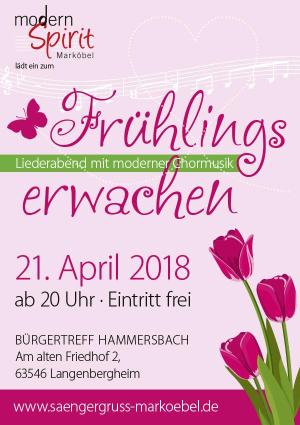 Plakat Frühlingserwachen